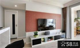 简约设计室内客厅电视背景墙效果图欣赏