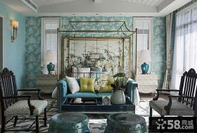 新古典风格别墅客厅背景墙效果图