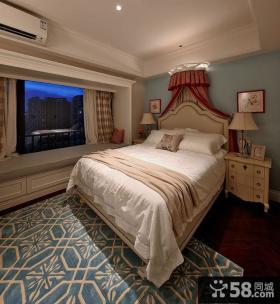 后现代带飘窗卧室装修设计图片