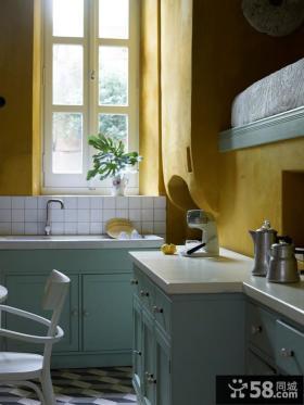 150平方米房子现代简约厨房橱柜装修图