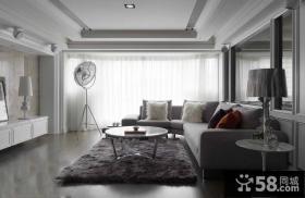现代时尚客厅吊顶图设计