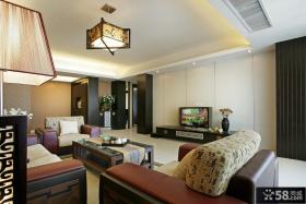 优质中式客厅电视背景墙装修效果图大全2013图片欣赏