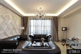 欧式现代风格客厅吊顶灯效果图欣赏