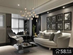 现代风格沙发背景墙效果图大全欣赏