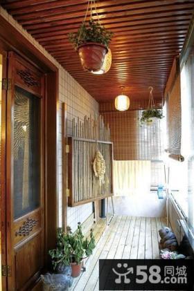 东南亚风格阳台装修效果图片