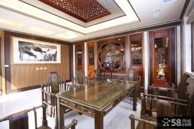 现代中式别墅客厅室内设计图片