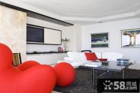 7万打造简约风格客厅电视背景墙装修效果图大全2014图片