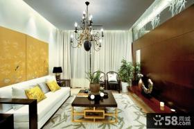 新中式风格二居室小户型装修图片