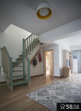 简约风格复式楼楼梯设计图片