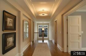 欧式风格复式走廊吊顶装修效果图