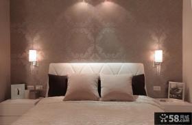 时尚卧室床头墙纸图片