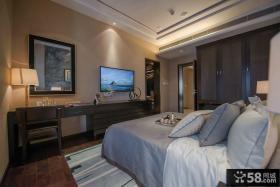 美式新古典风格室内卧室图片