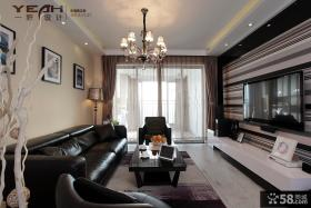 现代风格客厅电视背景墙装饰设计图