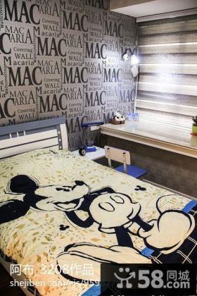 卧室床头壁纸背景墙设计效果图片