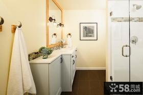清新简约美式风格装修卫生间装修效果图大全2012图片