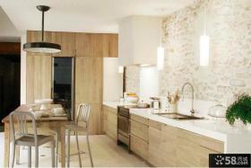 欧式风格I型厨房装饰图片