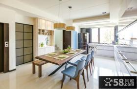 日式家庭设计餐厅效果图2015