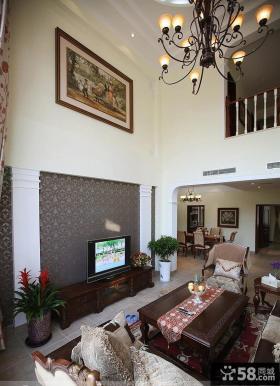 欧式别墅客厅电视背景墙效果图大全