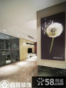 客厅玄关挂画装饰图片