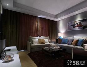 现代美式客厅电视背景墙效果图片大全