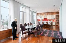 顶层复式装修效果图 复式楼餐厅装修效果图