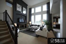 豪华复式客厅电视背景墙设计效果图