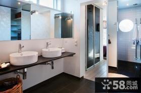 145平米复式楼装修效果图 简约现代家庭卫生间装修设计