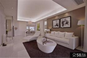 时尚家庭客厅沙发墙装饰画图片