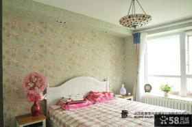 家居主卧室墙纸效果图片