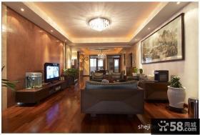 新中式客厅电视背景墙装修设计