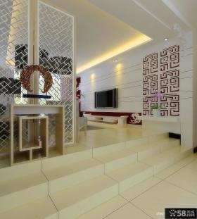 客厅玄关隔断装修效果图 四室两厅装修设计