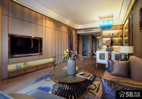 美式新古典豪华客厅电视背景墙图片
