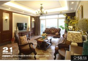 美式风格客厅电视背景墙装饰效果图
