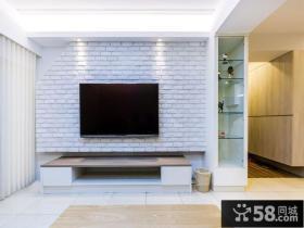 现代简约装饰家居电视背景墙设计效果图片