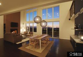 跃层客厅餐厅装修效果图大全2012图片