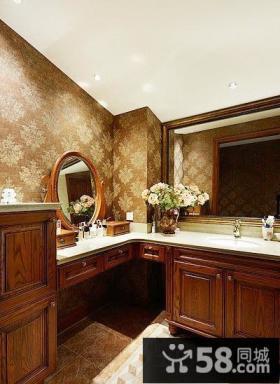 美式别墅整体客厅效果图
