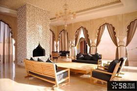 摩洛哥的豪华别墅客厅装修效果图大全2012图片