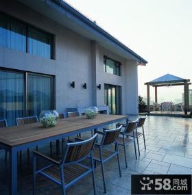 别墅露天阳台瓷砖装修效果图
