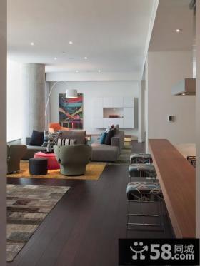 天通苑北一区复式楼现代创意客厅装修效果图大全2014图片