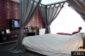 现代风格卧室背景墙效果图片
