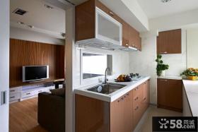 90平米现代美式二居室装修图片
