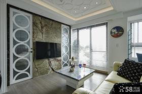 简约新古典客厅电视背景墙设计图