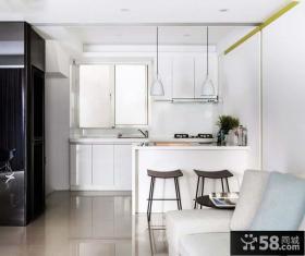 简约风格半开放式厨房装修图片