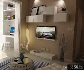 小户型家庭客厅背景墙装修效果图 2012电视背景墙装修效果图