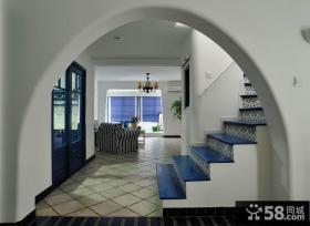 地中海风格别墅楼梯设计效果图片