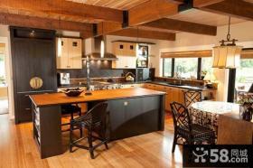 美式乡村风格厨房设计