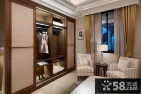 卧室简约宜家衣柜图片