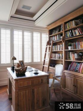 简约美式风格书房装修效果图大全