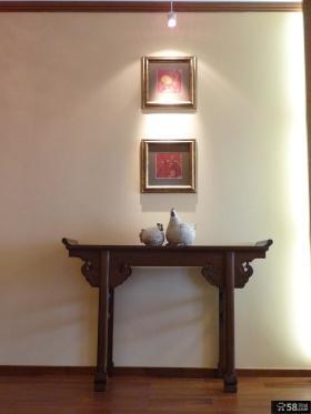 室内玄关桌装饰效果图欣赏