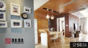 现代餐厅实木不吊顶设计图片